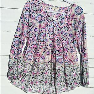 Style & Co semi sheer blouse